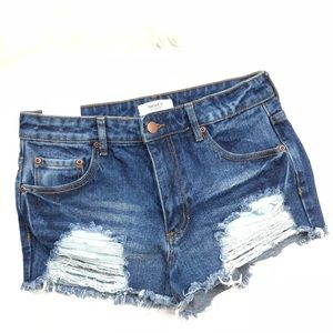 NEW F21 High Rise Denim Jean Shorts